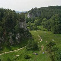 Dolina Kobylańska - widok z wierzchowiny