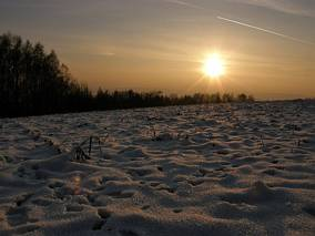 Zimowy wieczór na Jurze