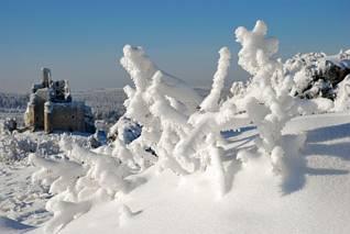 Śnieżna zima w Mirowie
