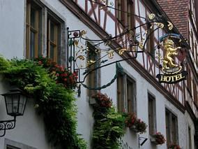Hotel na starówce, Rothenburg