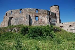 Wschodnie mury zamku Siewierz