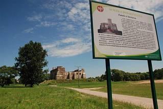 Zamek Siewierz - tablica