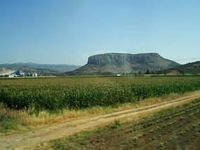 Meteora - widok z okna autokaru