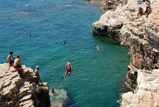 Kamenjak - skoki z klifów
