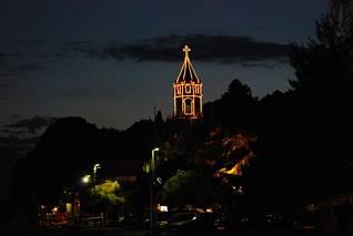 Cavtat - kościół nocą