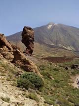 Słynna skała i szczyt Teide