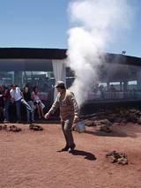 Sztuczny gejzer - pokaz na Lanzarote
