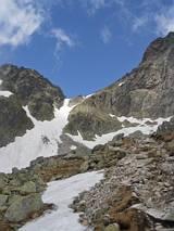 Lodowa Przełęcz - z dolinki lodowej