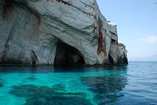 Błękitne groty na Zakynthos