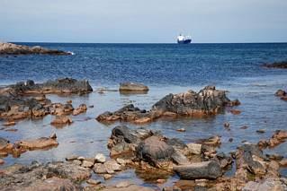 Surowe wybrzeże Bornholmu