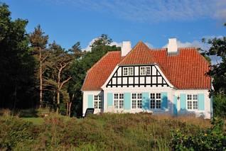 Typowy bornholmski domek