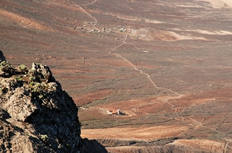 Widok z Pico de la Zarza na zachód