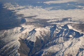 Sierra Newada z lotu ptaka...