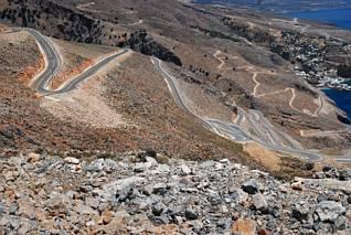 Serpentyny drogi do Chora Sfakion