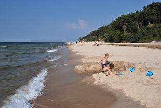 Plaża w Wisełce